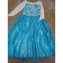 Frozen Fantasia Vestido Festa Importado Elsa Frete Grátis