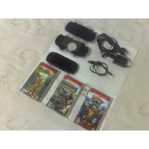 Psp Sony Desbloqueado Com 12 Jogos Na Memória Cartão De 8gb.