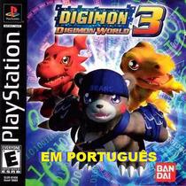 Digimon World 3 Ps1,ps2,psp,pc Patch Português Br