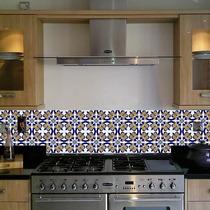 12 Adesivos Imitando Azulejo Hidráulico Português 10 X 10 Cm