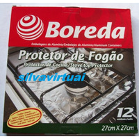 Papel Alumínio P/ Fogão A Gás 4/6 Bocas, Embalagem Com12 Und