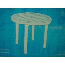 Mesa Redonda Desmontável Linea 2000 Com 4 Cadeiras Bistro