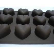 Forma De Silicone Chocolate Coração Bolos Doces Festas Gelo