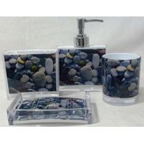 Kit Banheiro Acril Pedra Cx