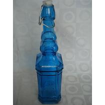 Garrafa De Vidro Colorida 760ml Azul