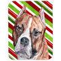 Staffordshire Bull Terrier Staffie Candy Cane Vidro De Natal
