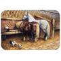 Comer Dos Cavalos Com Os Frangos De Corte De Vidro Board Gra
