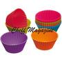 Forma Silicone Cupcake Muffins Queijadinha Com 12 Unidades