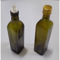 Kit Galheteiro De Vidro 2 Pçs P/ Azeite Vinagre Oleo Leilao*