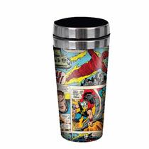 Copo Térmico Quadrinhos Marvel Comics Cores. Licenciado