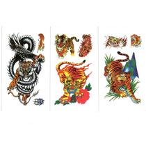 Kit 89 Tatuagem Temporária Flores Borboleta Tigre Frete Grát