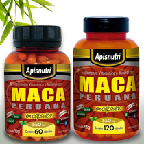 Maca Peruana 60 Capsulas 550 Mg Apisnutri Pronta Entrega