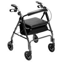 Andador 4 Rodas Prata - Mobil Saúde