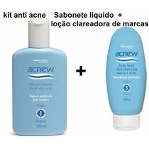 Kit Anti Acne Sabonete Líquido + Loção Clareadora De Marcas