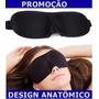 Máscara Para Dormir Repouso Anatômica Tapa Olho Venda Preta