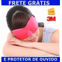Máscara Para Dormir Rosa Protetor Auditivo 3m Confortável