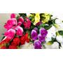 Rosas Artificiais - 12 Bouquets Com 12 Rosas Cada
