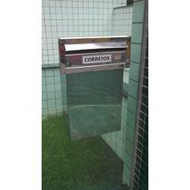 Caixa De Correio Inox Para Muro De Vidro Blindex