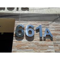 Números Aço Inox P/ Casas Residencias 20 Cm Só 21,00r$ Cada