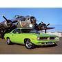 Placas Decorativas Dodge Verde Mopar Muscle Car, Hot Rod,