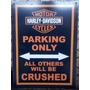 Placas Decorativas Moto Hd Harley Davidson Estacionamento