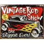 Placas Decorativas Hot Rod Vintage Show Carro Antigo