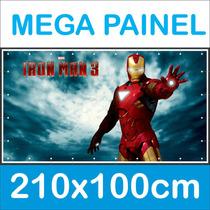 Mega Banner Painel Decoração De Festa 2,10 X 1,0 Metros