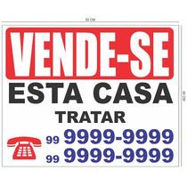 Placas De Vende-se ¿ Aluga-se Feita Em Pvc 1mm Adesivada