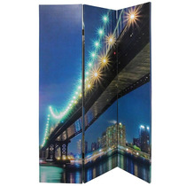 Biombo Ponte Do Brooklyn Com Leds 53 Fullway - 180x120 Cm