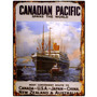 Tin Sign - Canadian Pacific Vintage Foto Arte Do Barco Do Na