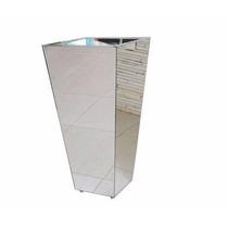 Vaso Cachepot Em Mdf Revestido Em Espelho 70cmx46cmx24cm
