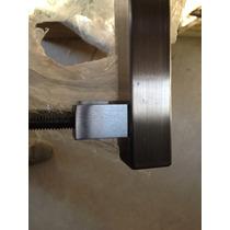 Puxador Quadrado Aço Inox Escovado Pivotante 1,25m, Blindex
