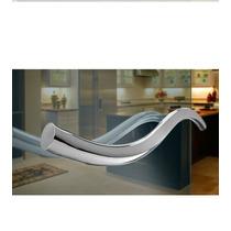 Puxador Duplo Para Porta 60 Cm Em Aço Inox 304 Polido