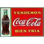 Placa Quadro Coca-cola Antiga Vintage