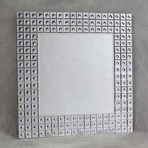 Espelho Decorado Para Quarto Casal Grande Quadrado
