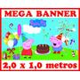Painel Banner Decoração Para Festa Aniversário 2,00x1,00 Mts