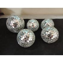 #12781 - Jogo 5 Bolas Espelhadas Decorativas Para Móbile!!!