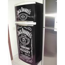 Adesivo Para Geladeira Completa Jack Daniels