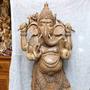 Ganesha De Madeira 160cm Importado De Bali Peça Unica