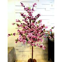Planta Artificial/arranj/arvor Pessegueiro Roxo/violeta 1,6m
