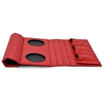 Esteira Bandeja De Sofá Porta Copos Controles Vermelha Zarco