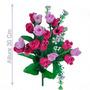 Bq C/9 Botões Rosa Cores Diversas(034138)-flores Artificiais