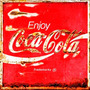 Placas Decorativas Coca Cola Quadrada Enferrujada Antiga