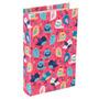Livro Cofre Florestinha Pássaro Composê Rosa Madeira/tecido