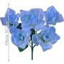 Bq Rosa X5 Azul 30cm (21546001) - Flores Artificiais