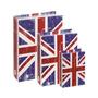 Jogo Caixa Livros Inglaterra Madeira 3 Peças