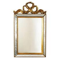 Espelho Bisote Para Parede Moldura Retangular