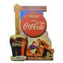 Placa Retrô Coca-cola Mdf Adesivado C/ Recorte 36 X 28 Cms