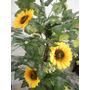 Planta Artificial/arvore Girassol 1,30mt De Altura.