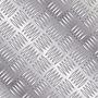 Chapa Alumínio Lavrada Xadrez 1000x500mm Na Esp. De 2,7mm